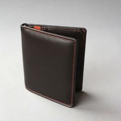 Ruda piniginė su oranžinėmis detalėmis