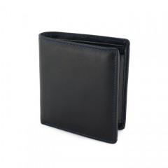 """Ruda odinė piniginė su mėlynomis detalėmis """"Axis mažoji"""""""