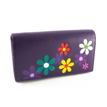 """Violetinė odinė piniginė """"Pieva"""""""