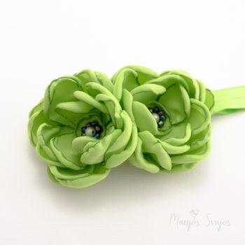 """Plaukų juosta """"Žalios gėlės"""""""