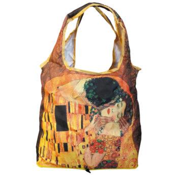 """Sudedamas pirkinių krepšys """"Gustav Klimt Bučinys"""""""