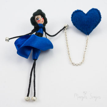 "Dviguba sagė ""Mėlyna širdelė"""