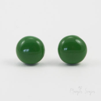"Keraminiai auskarai ""Žali"""