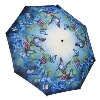 """Automatinis sudedamas skėtis """"Mėlyni drugeliai"""""""